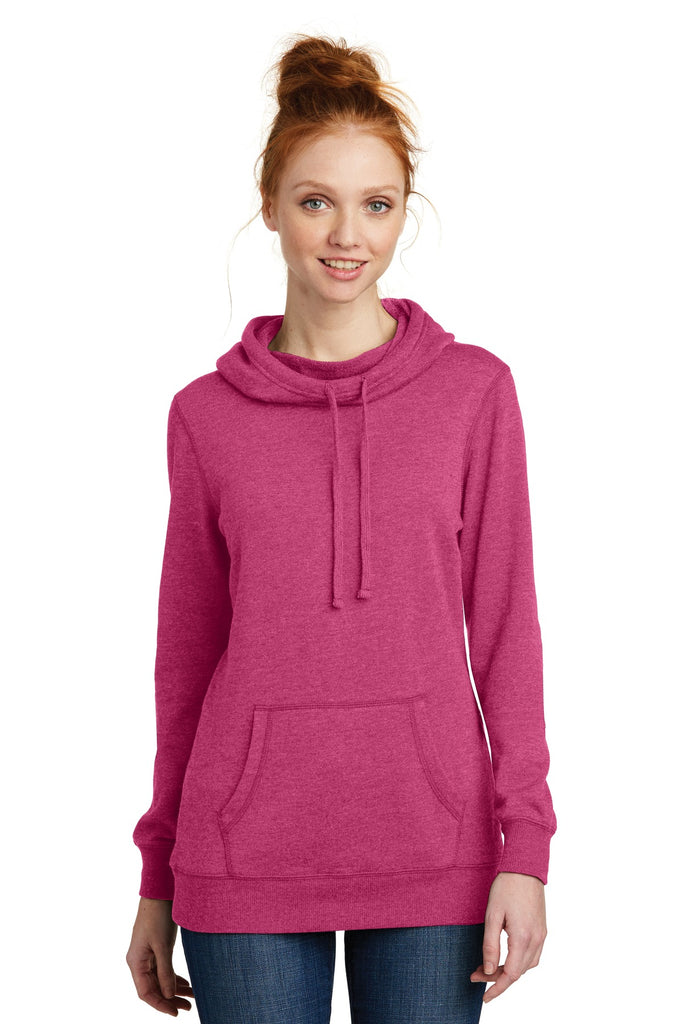 District ® Women's Lightweight Fleece Hoodie. DM493
