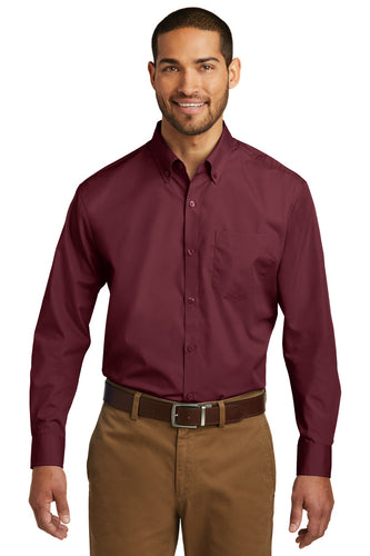 Port Authority® Long Sleeve Carefree Poplin Shirt. W100