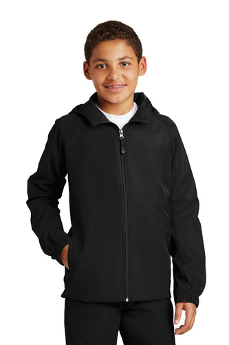 Sport-Tek® Youth Hooded Raglan Jacket. YST73