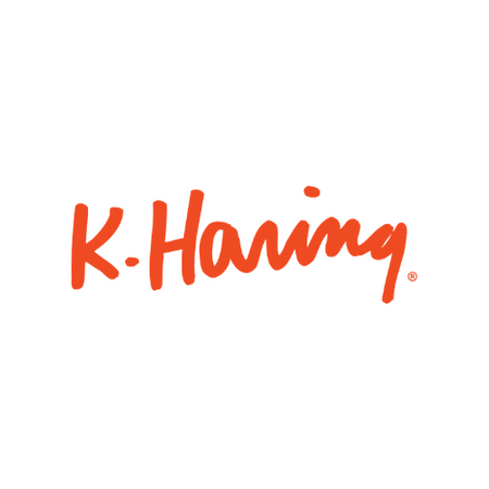 k haring glass collection logo