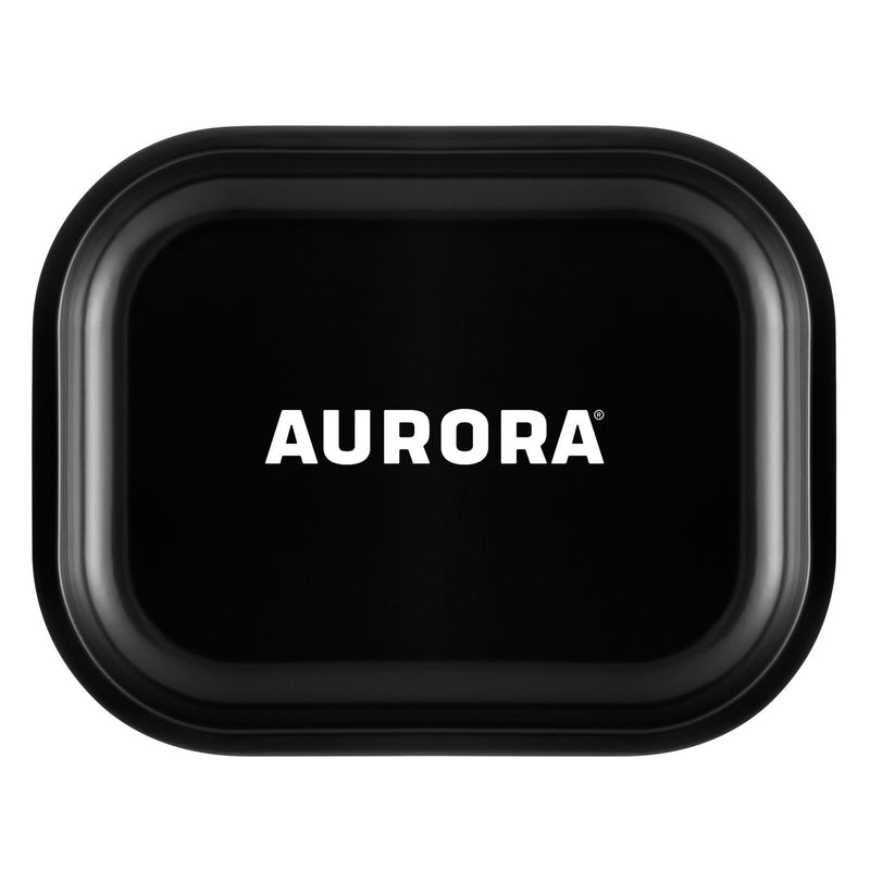 aurora metal rolling tray black large