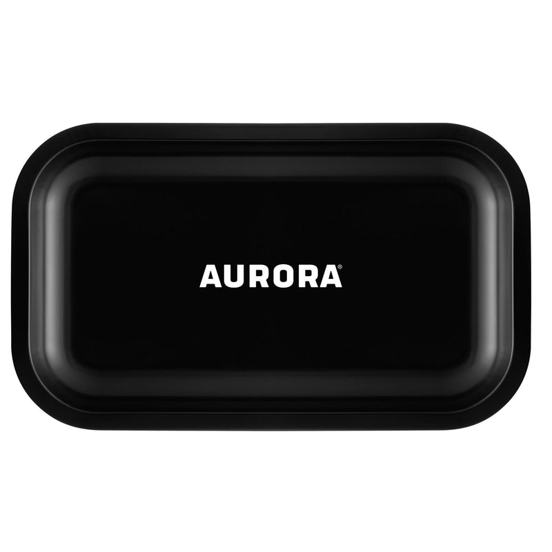 aurora metal rolling tray black