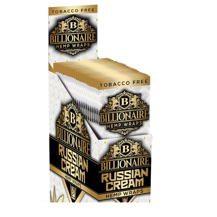 billionaire hemp wraps russian cream box
