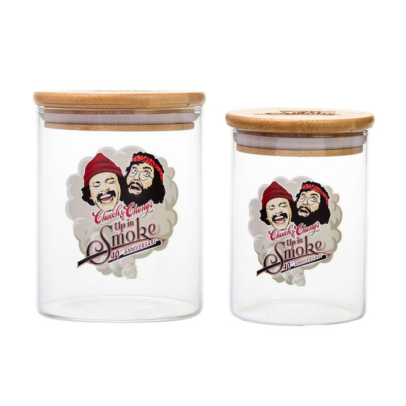 cheech chong stash jar glass bamboo