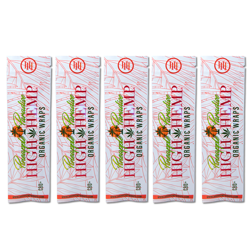 high hemp pineapple paradise blunt wraps 5 pouches