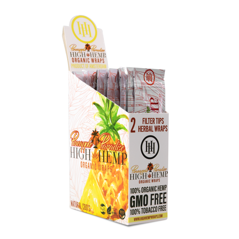high hemp pineapple paradise blunt wraps box