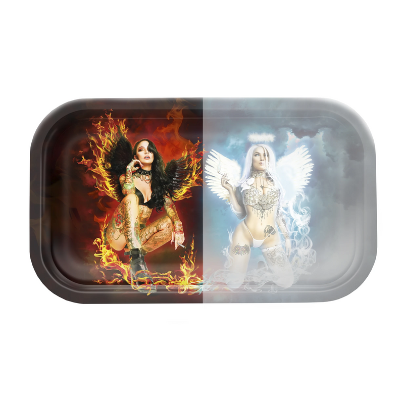 hybrid rolling tray devil angel silicone mat v syndicate