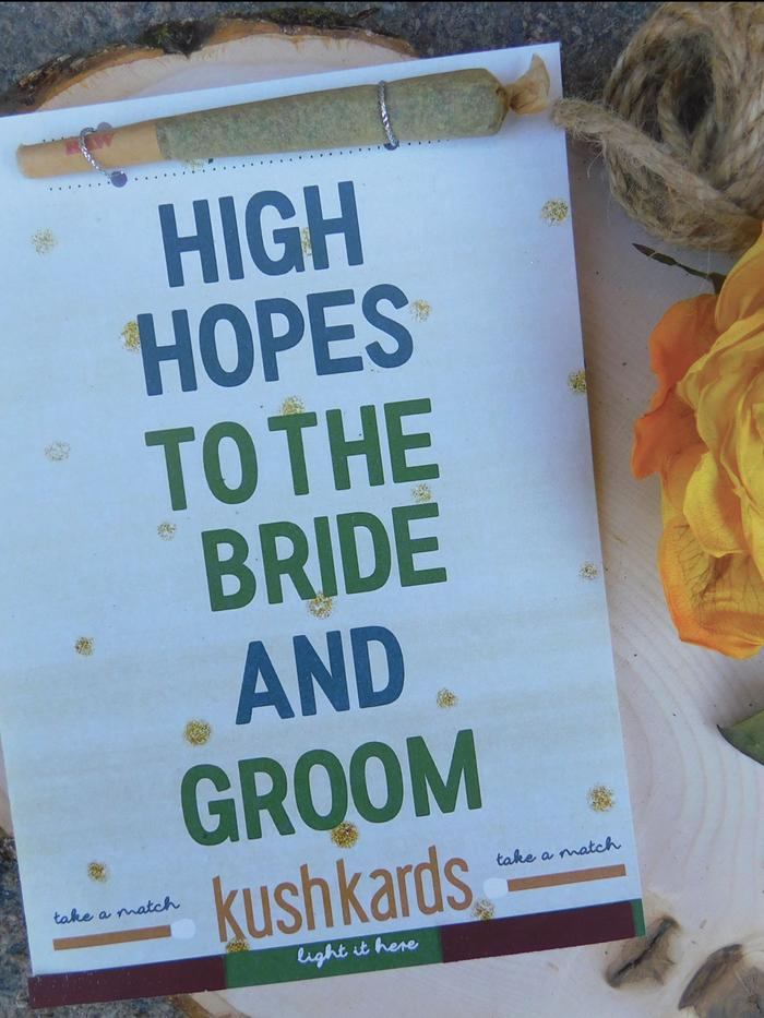 KushKards High Hopes to the Bride & Groom