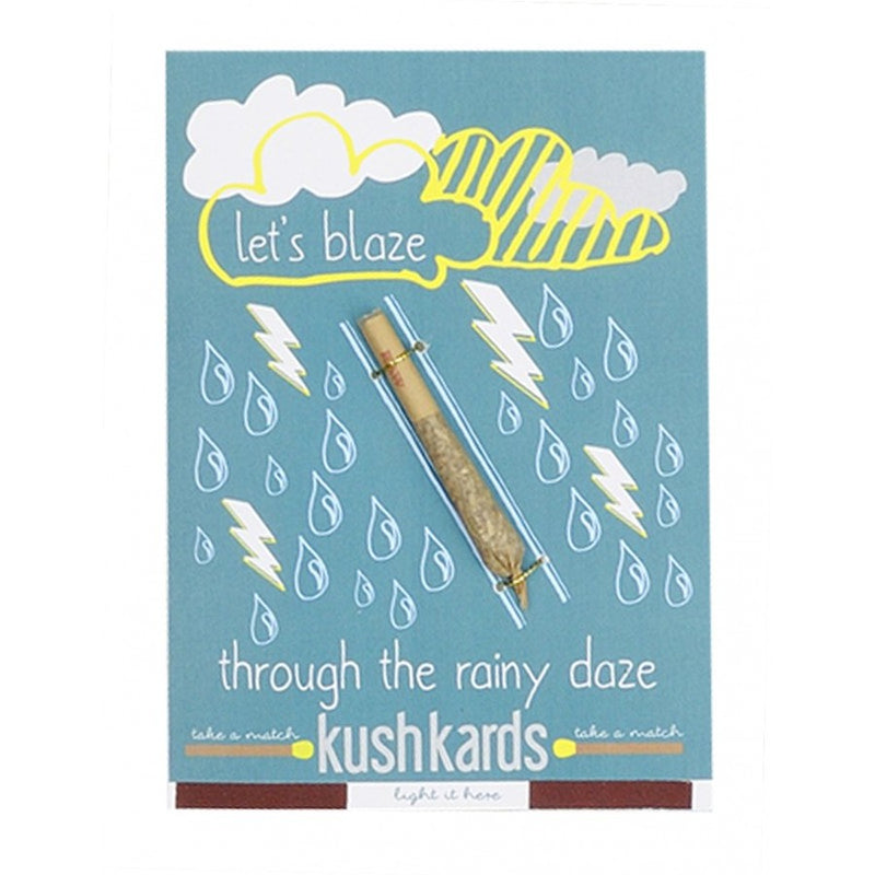 kushkards lets blaze rainy daze