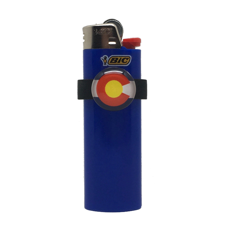 lighter charms colorado flag design bic