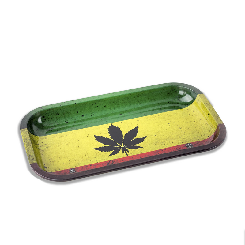 metal rolling tray rasta leaf medium v syndicate
