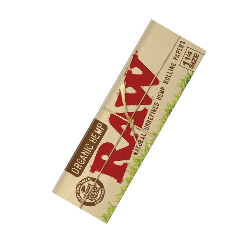 raw organic hemp rolling papers 50 pack