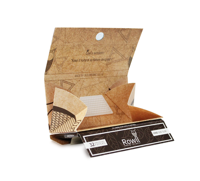 rowll king size herb rolling papers natural unbleached