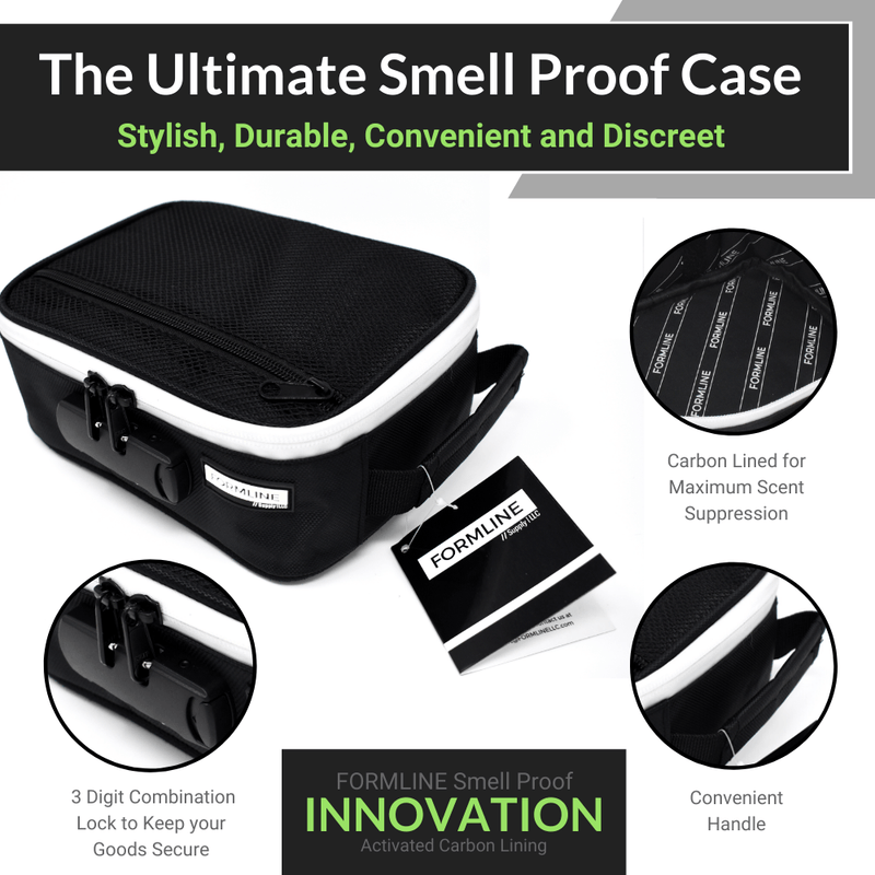 "Smell Proof Case with Combination Lock (8"" x 6"" x 3"")"
