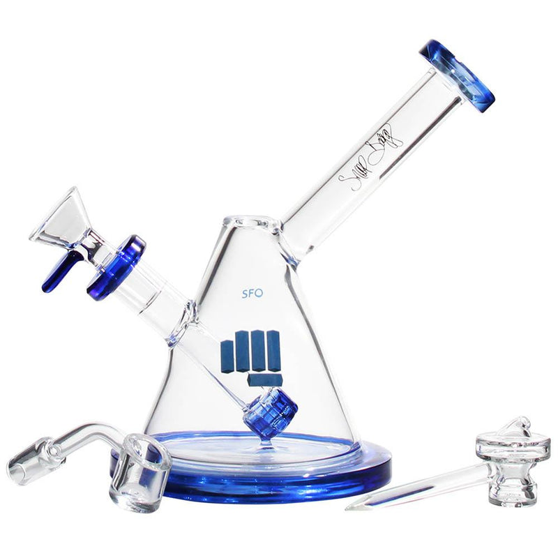 snoop pounds sfo water pipe dab rig blue