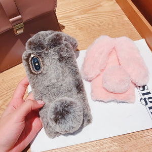 Hairy Cute Rabbit Phone Case For iPhone