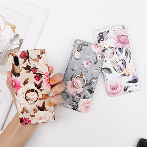 Vintage Flower Leaf Phone Cases For Huawei