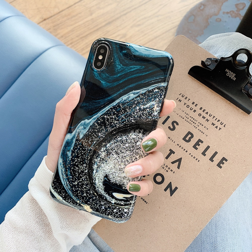 Shining Starry Sky Case For iPhone
