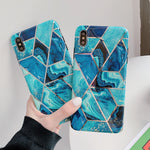 Geometric Marble Phone Cases For iPhone