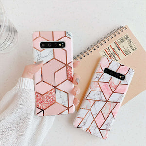 Plating Geometric Phone Cases For Samsung