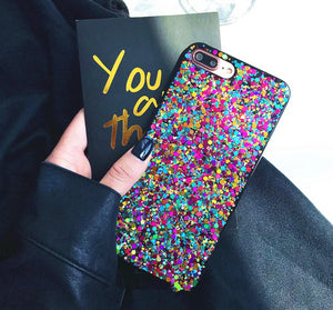Glitter Rainbow iPhone Case
