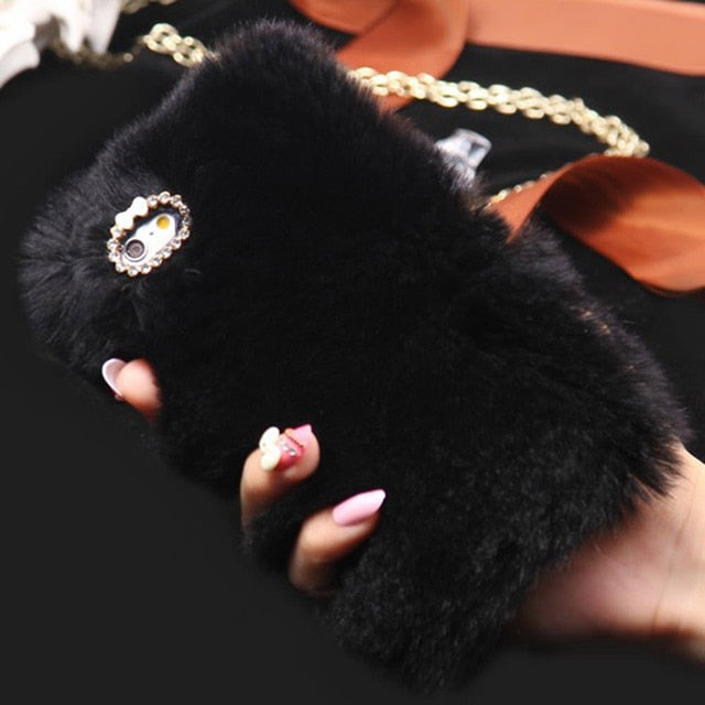 Cute Fur Fluffy iPhone Case