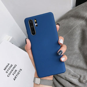 Candy Color Soft Phone Case For Huawei