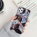 Geometric Marble Case For iphone