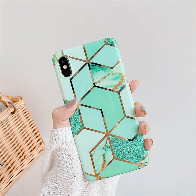 Plating Geometric Marble For Huawei