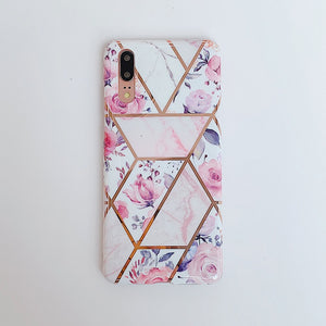 Cute Pink Flower Phone Case For Huawei