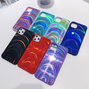 Rainbow Texture Mirror iPhone Case