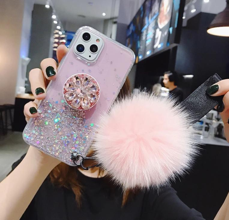 3D Diamond Holder stand Glitter IPhone Case