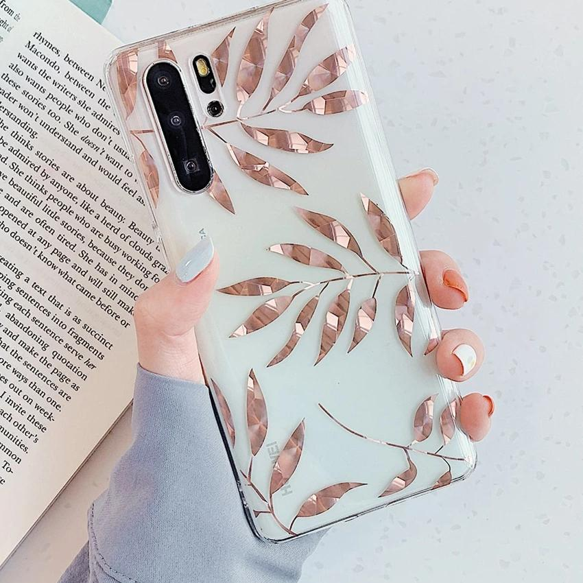 Rose Gold Leaves Case For Samsung