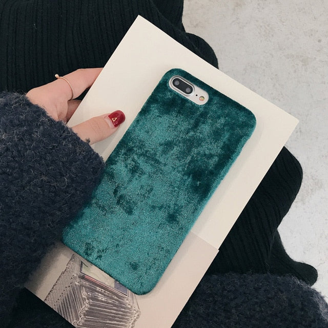 Velvet Plush Case For iPhone