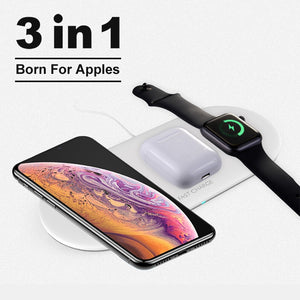 3 in 1 Qi Wireless Charger Pad