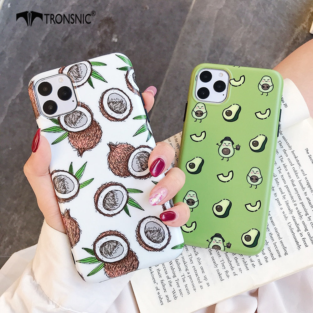 Green Avocado Coconut Case for iPhone