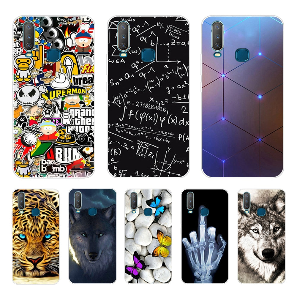 6.35'' For Vivo Y17 Y15 Y12 Y3 Case Soft TPU Phone Case For VIVO Y 17 Y 15 Y 12 Y 3 Back Cover Case Silicone Coque Cool Funda