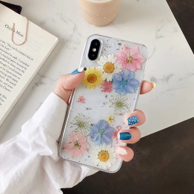 Real Dried Flowers Soft Cover for iPhone