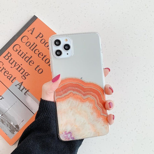 Cute River Marble Case For iPhone