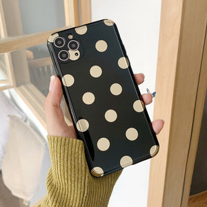 Electroplated Heart Point Case For iPhone