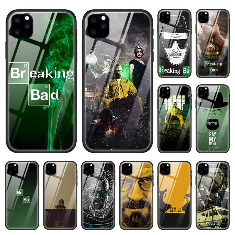 Breaking Bad TV Cases for Apple iPhone 12 11 Pro XR XS Max X 7 8 6S 6 Plus Tempered Glass Black Soft Edge Phone Coque Sac Fundas