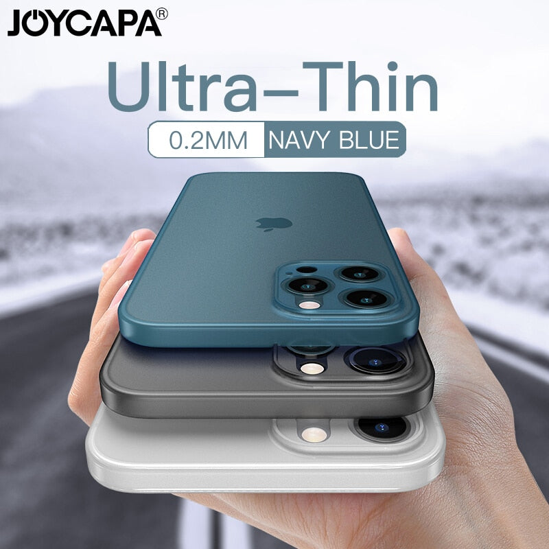 Ultra Thin Matte Phone Case For iPhone 12 11 Pro Max X XR XS Max 7 6 6s 8 Plus SE 2020 Lens Full Cover Shockproof Frosted Case