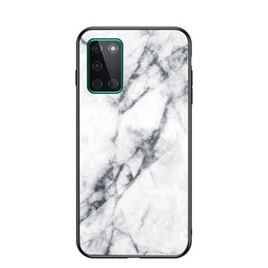 Luxury Marble Tempered Glass Case For Oneplus One Plus 7 7T 8  8T Nord Back Cover Gradient Protective Slim Funda Hard