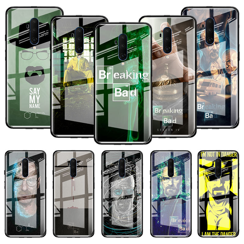 Breaking Bad Chemistry Walter Glass Case For Oneplus 8 7 7T Pro 5G 6T + One Plus 7Pro 8Pro Tempered Fall Phone Fundas Capas