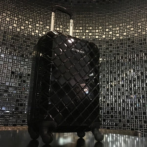 Check Black Carry On Small Suitcase