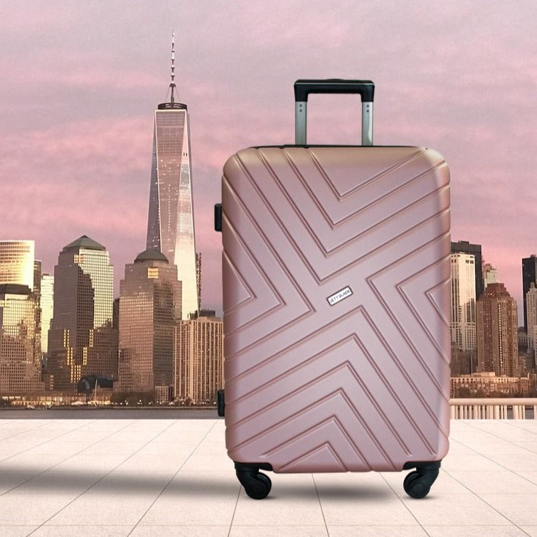 "Rose Gold Maze Series 24"" Medium Suitcase"