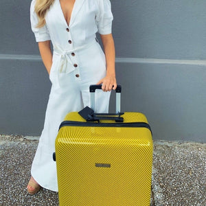 "Carbon Yellow Series 24"" Medium Suitcase"
