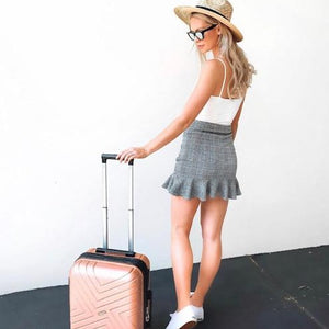 Rose Gold Maze Series Carry On Small Suitcase