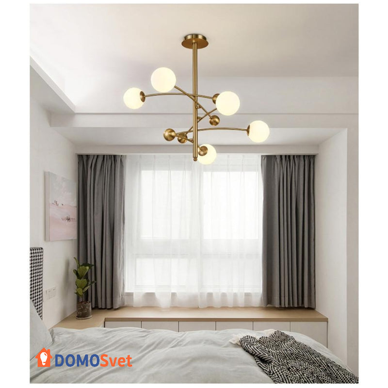 Люстра Led Aspect Gold White Domosvet Design 21053-34888
