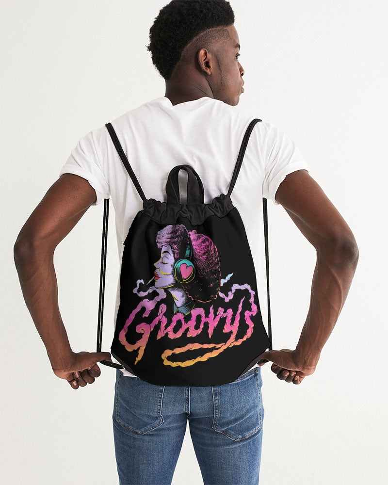 Groovy Canvas Drawstring Bag
